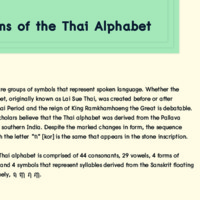 Origin of the thai alphabat